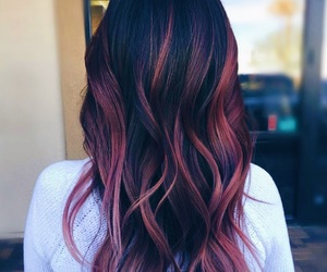 hair, highlight, and pink hair image