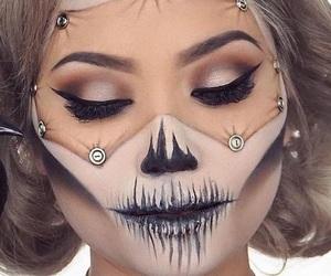 costume, Halloween, and maquiagem image