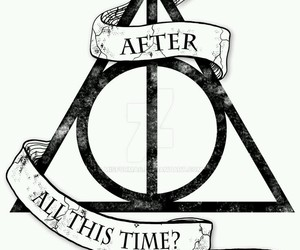 harry potter, always, and deathly hallows image