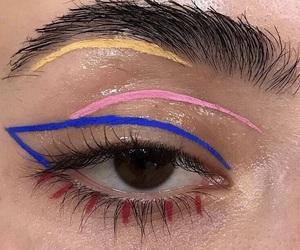 makeup, eye, and aesthetic image