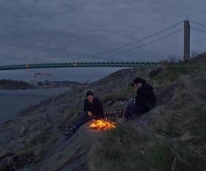 fire, grunge, and night image