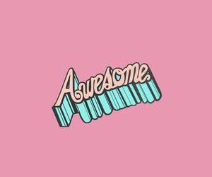 pink, awesome, and wallpaper image