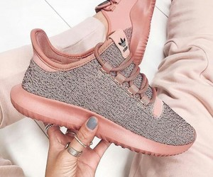 gris, rosa, and tenis image