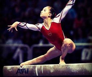 beam, body, and gymnastics image