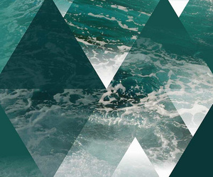 geometric, ocean, and pattern image