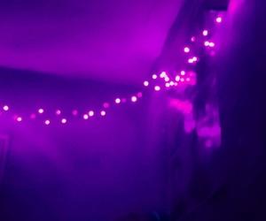 lights, night, and purple image