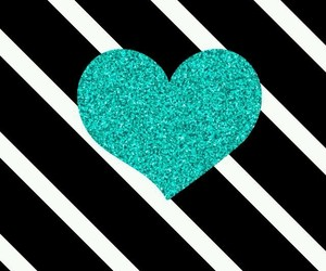 background, black and white, and glitter heart image