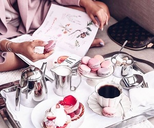 coffee, breakfast, and cake image