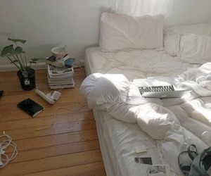bedroom, alternative, and bed image