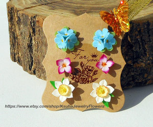 etsy, set of three, and small stud earrings image