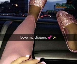 pink, shoes, and slides image