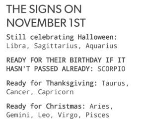 christmas, Halloween, and zodiac signs image