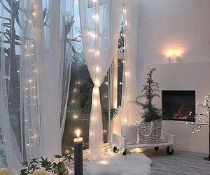 lights, home, and cozy image