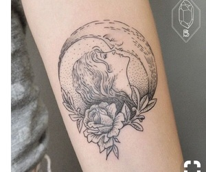 tattoo, moon, and art image