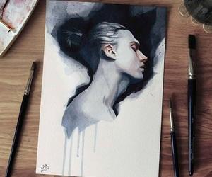 art, human, and painting image