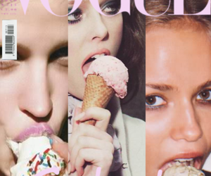 vogue, ice cream, and model image