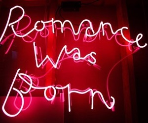 romance, light, and neon image