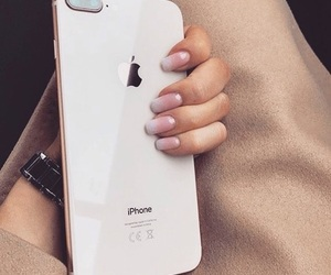 apple, nails, and phone image