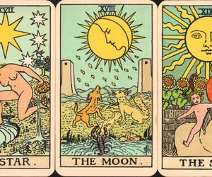 tarot, moon, and stars image