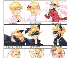 Adrien, Chat Noir, and ladybug image