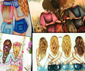 bff, friends, and Collage image