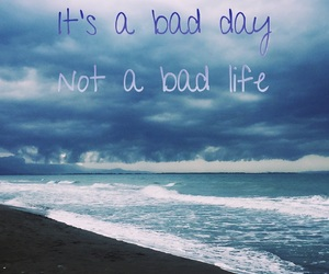 bad day, happy, and beach image