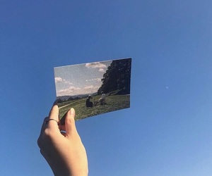blue, sky, and minimal image