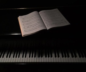 black, piano, and cool image