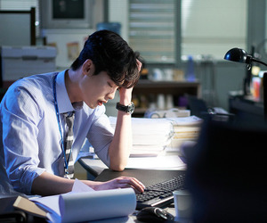 actor, hair, and korea image