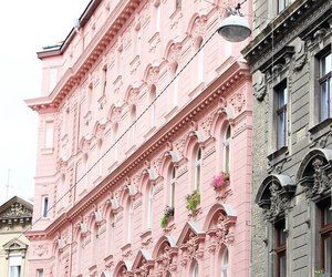 architecture, budapest, and pink image