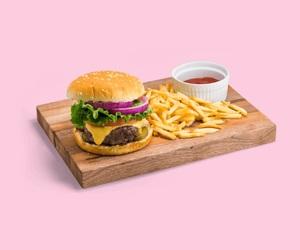 art, fast food, and food image