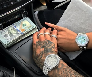money, goals, and tattoo image