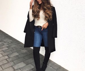 fashion, hairstyle, and long hair image
