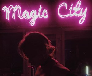beauty, neon, and pink image
