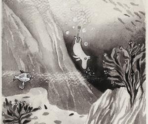 art, illustration, and moomintroll image