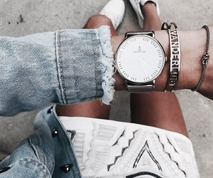clothes, tumblr, and watch image