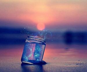 beautiful, galaxy, and jar image