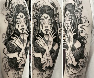 black, ink, and tattoo image