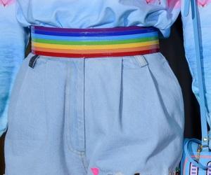 aesthetic, fashion, and rainbow image