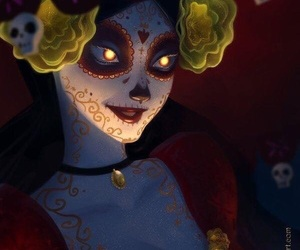 day of the dead, catrina, and dia de muertos image
