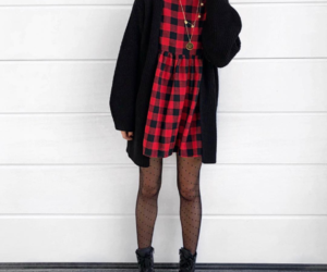 boots, checked shirt, and fashion image