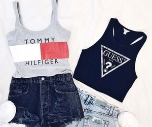 fashion, clothes, and guess image