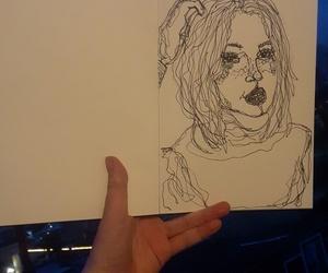 art, art girl, and blue image