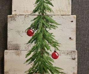 ball, christmas, and christmas tree image