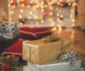 christmas, gift, and lights image