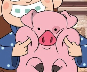 gravity falls, mabel, and pig image