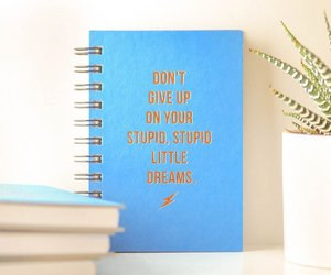 blue, journal, and don't give up image