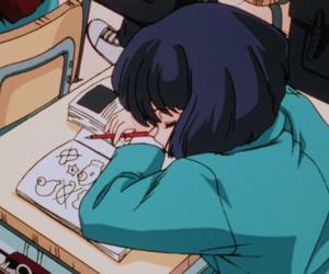 anime, aesthetic, and school image