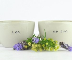 coffee mugs, bridal shower gift, and gift idea for couple image