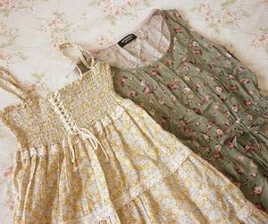 dress, vintage, and floral image